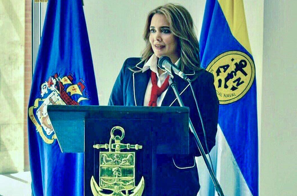 María José Cure, Nueva Presidenta de la Acción Social Naval en Colombia