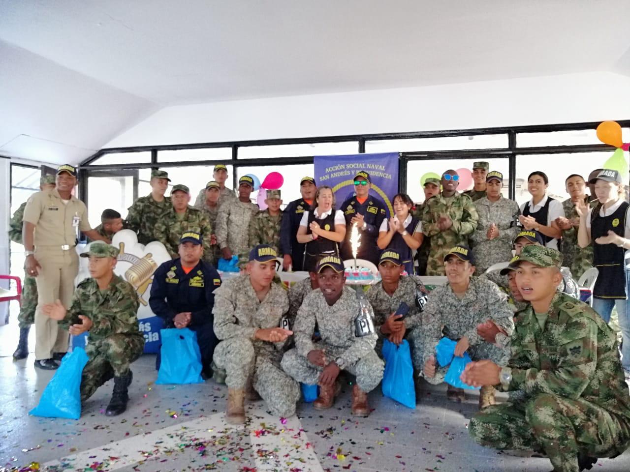 Celebración para Infantes de Marina en San Andrés