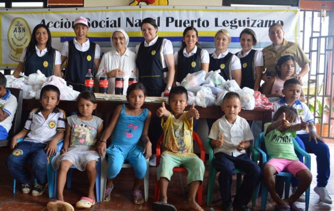 Niños de Puerto Leguízamo celebran su mes
