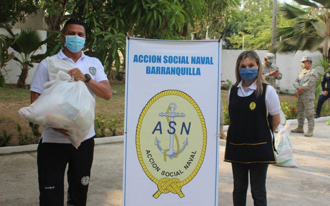 Entrega de donaciones en Barranquilla
