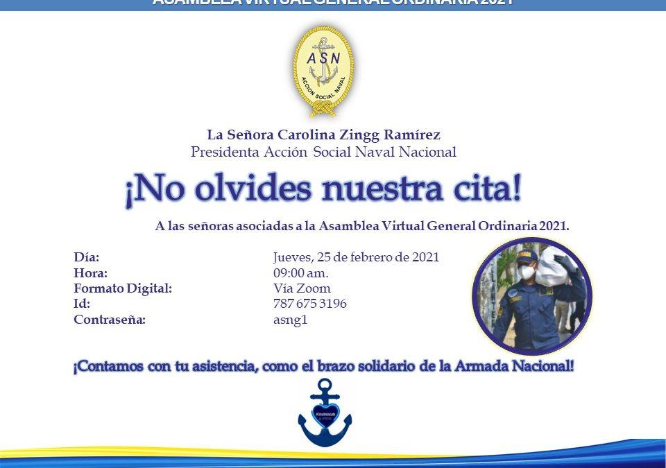 Recuerda la Asamblea Virtual General Ordinaria