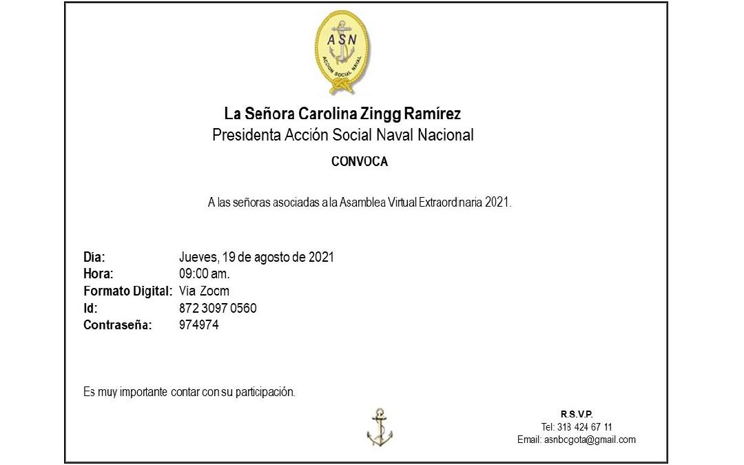 Convocatoria Asamblea Virtual Extraordinaria en Bogotá